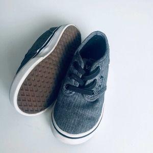 Baby Vans Charcoal Gray Slip On Sneakers SZ 7